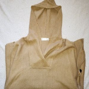 Hooded Poncho Sweater